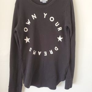 Old Navy Girls Thermal Long Sleeve Shirt Size: Reg